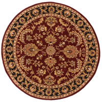 Surya AWOC2001-6RD Middleton 72 X 72 inch Dark Brown/Mustard/Black/Clay Rugs, Round photo thumbnail