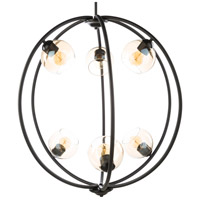 Surya AXL-001 Axel 6 Light 32 inch Black Pendant Ceiling Light