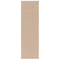 Barcelona 96 X 30 inch Brown Outdoor Runner, Polypropylene, Polyester, and Viscose