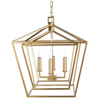 Surya BEI-002 Bellair 4 Light 24 inch Foyer Lantern Ceiling Light
