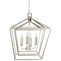 Surya BEI-003 Bellair 4 Light 18 inch Foyer Lantern Ceiling Light