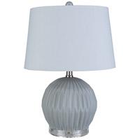 Surya BEN-002 Brennon 19 inch 60 watt Light Gray Table Lamp Portable Light