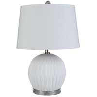 Surya BEN-003 Brennon 19 inch 60 watt White Table Lamp Portable Light