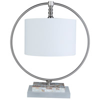 Surya BIO-001 Britton 22 inch 100 watt White Table Lamp Portable Light