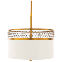 Surya BJU-003 Bijou 3 Light 19 inch White Pendant Ceiling Light