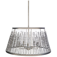 Surya BJU-004 Bijou 5 Light 24 inch Nickel Pendant Ceiling Light