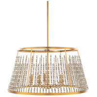 Surya BJU-005 Bijou 5 Light 24 inch Brass Pendant Ceiling Light