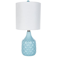 Surya BLA-553 Blakely 19 inch 40 watt Aqua Table Lamp Portable Light