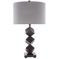 Dark Brown/White Metal Table Lamps