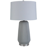 Surya BOK-002 Brock 26 inch 100 watt Light Gray Table Lamp Portable Light