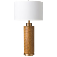 Tan/White Table Lamps
