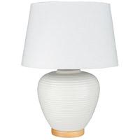 Surya BXB-001 Bixby 24 inch 100 watt White Table Lamp Portable Light