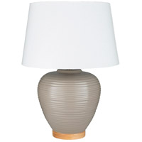 Surya BXB-003 Bixby 24 inch 100 watt Taupe Table Lamp Portable Light
