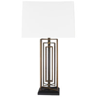 Surya BYR-001 Byron 14 inch 150 watt Antiqued Table Lamp Portable Light
