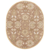 Caesar 120 X 96 inch Neutral and Brown Area Rug, Wool