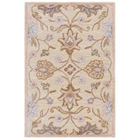 Caesar 36 X 24 inch Neutral and Brown Area Rug, Wool