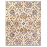 Caesar 114 X 90 inch Neutral and Brown Area Rug, Wool