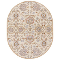 Caesar 108 X 72 inch Neutral and Brown Area Rug, Wool