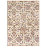 Caesar 132 X 96 inch Neutral and Brown Area Rug, Wool
