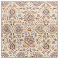 Caesar 48 X 48 inch Neutral and Brown Area Rug, Wool