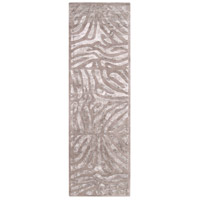 Modern Classics 96 X 30 inch Gray and Neutral Runner, Wool