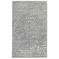 Modern Classics 63 X 39 inch Gray and Gray Area Rug, Wool