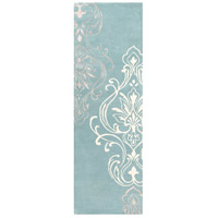 Surya CAN2011-268 Modern Classics 96 X 30 inch Blue and Neutral Runner, Wool photo thumbnail