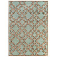 Surya CAN2034-811 Modern Classics 132 X 96 inch Blue and Neutral Area Rug, Wool photo thumbnail