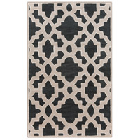 Surya CAN2036-3353 Modern Classics 63 X 39 inch Black and Neutral Area Rug, Wool photo thumbnail