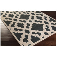 Surya CAN2036-3353 Modern Classics 63 X 39 inch Black and Neutral Area Rug, Wool alternative photo thumbnail