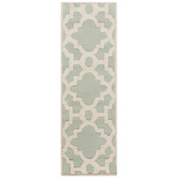 Surya CAN2039-268 Modern Classics 96 X 30 inch Green and Neutral Runner, Wool photo thumbnail