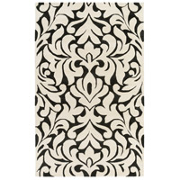 Surya CAN2080-58 Modern Classics 96 X 60 inch Black and Neutral Area Rug, Wool photo thumbnail