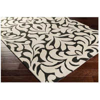 Surya CAN2080-58 Modern Classics 96 X 60 inch Black and Neutral Area Rug, Wool alternative photo thumbnail
