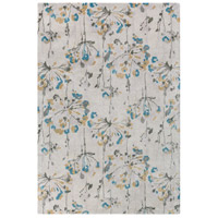 Modern Classics 63 X 39 inch Neutral and Gray Area Rug, Viscose and Wool