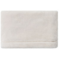 Cheri 60 X 50 inch Cream Throw, Rectangle