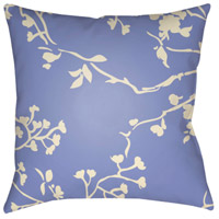 Chinoiserie Floral 18 X 18 inch Cream and Bright Blue Outdoor Throw Pillow