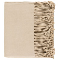 Surya CNL1002-5060 Chantel 60 X 50 inch Tan Throw