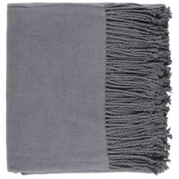 Surya CNL1004-5060 Chantel 60 X 50 inch Grey Throw