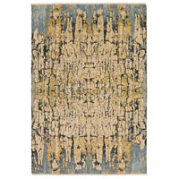 Colaba 108 X 72 inch Blue and Blue Area Rug, Silk and Wool