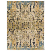 Colaba 120 X 96 inch Blue and Blue Area Rug, Silk and Wool
