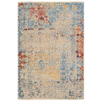 Colaba 108 X 72 inch Blue and Blue Area Rug, Wool and Silk