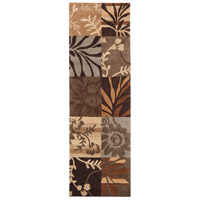 Cosmopolitan 96 X 30 inch Brown and Neutral Runner, Polyester