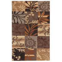 Cosmopolitan 96 X 60 inch Brown and Neutral Area Rug, Polyester