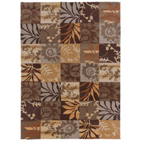 Cosmopolitan 132 X 96 inch Brown and Neutral Area Rug, Polyester