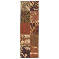 Cosmopolitan 96 X 30 inch Orange and Brown Runner, Polyester