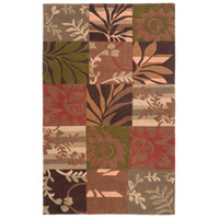 Cosmopolitan 96 X 60 inch Orange and Brown Area Rug, Polyester