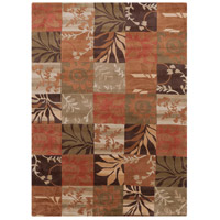 Cosmopolitan 132 X 96 inch Orange and Brown Area Rug, Polyester