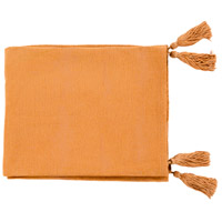 Surya CPA1002-5060 Copacetic 60 X 50 inch Saffron Throw, Rectangle