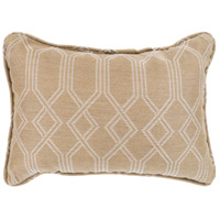 Crissy 19 X 13 inch Off-White and White Outdoor Pillow Cover