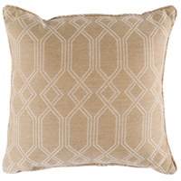 Crissy 16 X 16 inch Off-White and White Outdoor Pillow Cover